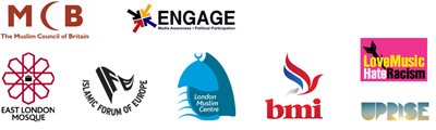 MCB, Engage, East London Mosque, Islamic Forum Europe, London Muslim Centre, BMI