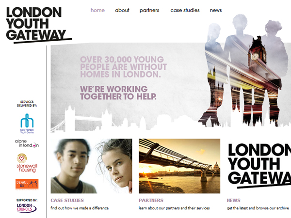 London Youth Gateway website