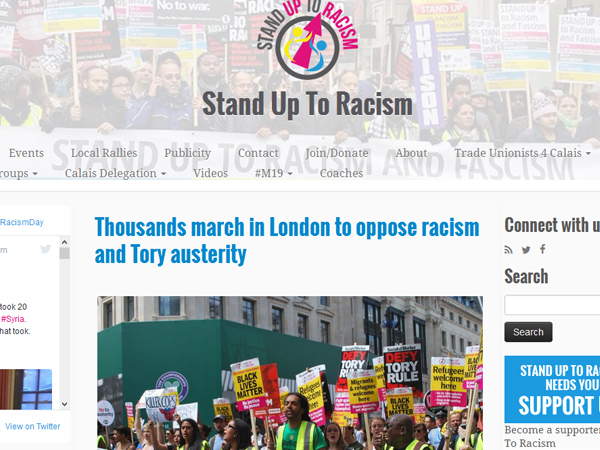 Stand Up To Racism website